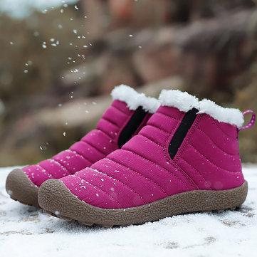 Vattentät Varm Snö Slip On Outdoor Ankle Boots