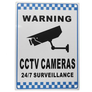 CCTV Warning Sign Security Video Surveillance Camera Safety Sign Reflactive Metal