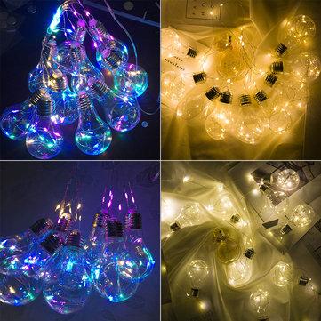 10 Lampu Gantung Cahaya LED String Cahaya Pesta Pernikahan Dekorasi Rumah Firefly Romantis