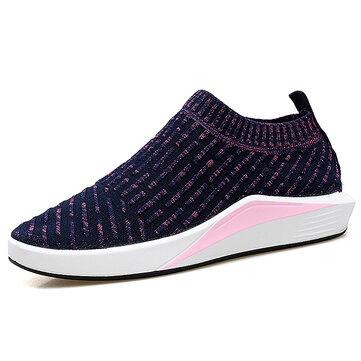 Women Breathable Slip On Soft Mesh Sport Running Outdoor Shoes