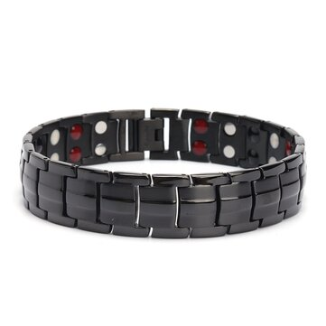Punk Stainless Steel 4 in 1 Terapi Magnet Yang Kuat Gelang Perhiasan Penyembuhan untuk Pria