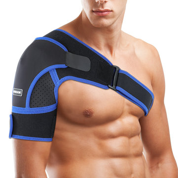Adjustable Shoulder Support Brace,SGODDE Neoprene Upper Arm Belt Wrap,Compatible with Hot/Cold Pad,Therapy Compression Wrap for Rotator Cuff, Dislocat