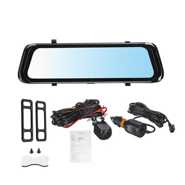 How can I buy 10'' HD 1080P Dual Lens Rearview Mirror Dash Cam Recorder Rear Camera Car DVR with Bitcoin