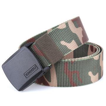 Men's Nylon Classic Series Military Tactical Belt Adjustable Canvas Webbing Strap Plastic Buckle