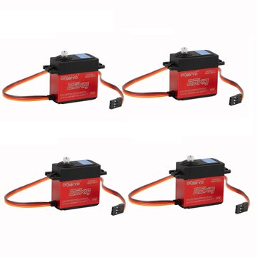 4 PCS GXservo GX3225MG 25KG Servo High Torque Digital Steering Metal Gear Servo for DIY Robot RC Car Airplane