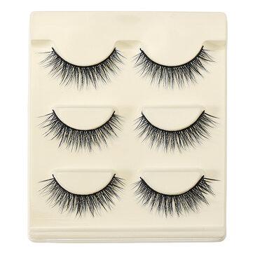 3D False Eyelashes Ställ Blue False Vashes Makeup Naturliga Ögonfransar Förlängning för Party