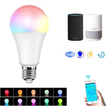 E27 7.5W RGBW Dimmable Smart Wifi APP Control LED Light Bulb Work...