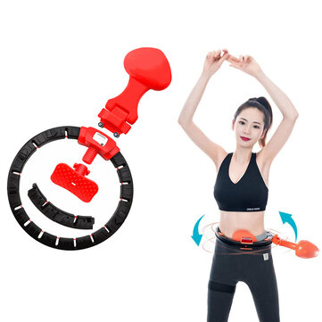 Buy KALOAD Removable Smart Hula Ring Auto Counting Non Dropping Fitness Adjustable Waist Training Hoop Fitness Exercise Tools with 10 on Gipsybee.com