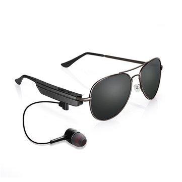 KCASA Smart bluetooth Glasses USB Earphone UV400 Sunglasses for Phone Call Music