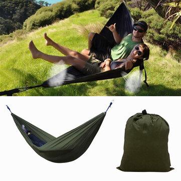 IPRee® Portable 270x140CM Hammock Camping 210T Nylon Double hanging Swing Bed