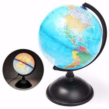 20cm LED mundo globo terra tellurion mapa atlas geografia suporte educacional de giro