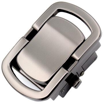 Men Belt Buckle Alloy Automatic Business Leather Waistband Buckle