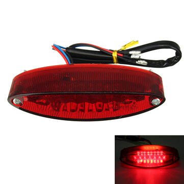 12V Motorcycle 28 LED Rear Brake Tail License Plate Light Red Lamp Universal