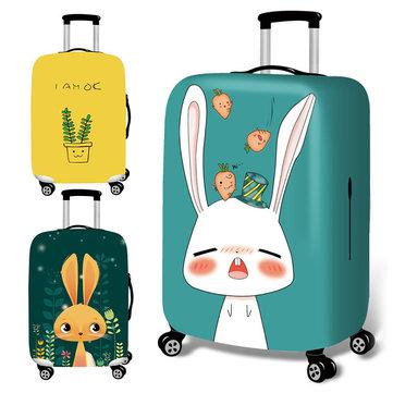 Honana Phim hoạt hình dễ thương Thỏ Đàn hồi Hành lý Vỏ xe đẩy Vỏ bọc Vỏ vali bền cho 18-32 Inch Phụ kiện du lịch ấm áp