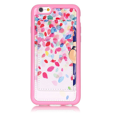 Colorful Petals Pattern Back Holder Case For iPhone 6 6s