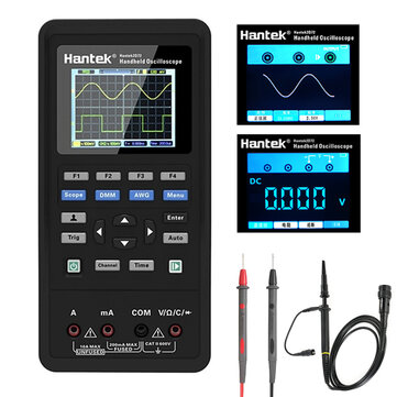 Hantek 3in1 Digital Oscilloscope + เครื่องกำเนิดสัญญาณแบบเวฟฟอร์ม + มัลติมิเตอร์แบบพกพา USB 2 ช่องสัญญาณ 40 mhz