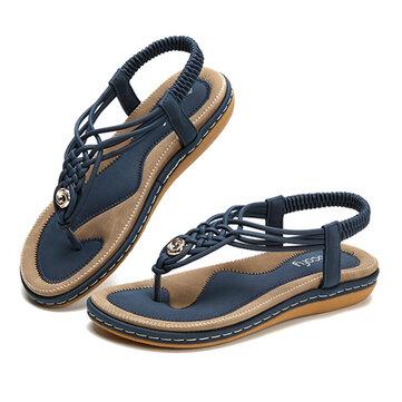 SOCOFY Scarpe Sandali in Maglia con Suola Morbida da Donna di Grandi Dimensioni per Spiaggia
