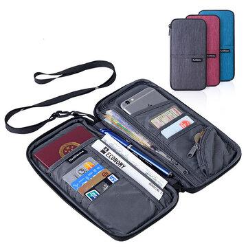 आईफोन के लिए नेचरहाइक NH17C001-B यात्रा पासपोर्ट कार्ड बैग टिकट कैश वॉलेट पाउच धारक