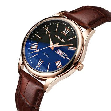 Đồng hồ đeo tay nam bằng da SANDA 213 Classic