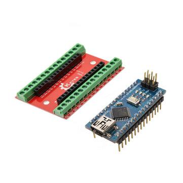NANO IO Shield Expansion Board + Nano V3 Improved Version No Cable For Arduino
