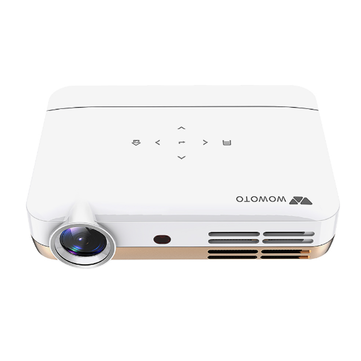 Wowoto H10 DLP Smart Projector 4500 Lumens 1280x800P 1000:1 Supports 4K Wifi Bluetooth Projector