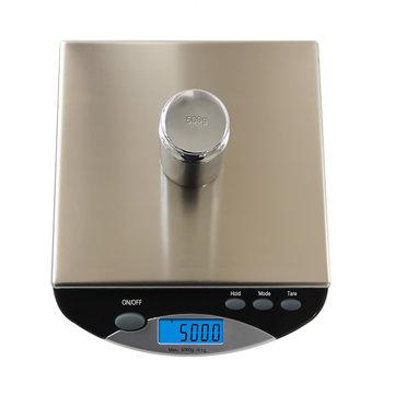 0.1g / 2000g y 1g / 6000g 500I Electrónico preciso Escala Pesaje Impermeable Cocina de acero inoxidable portátil Escala Horneado de pasteles Escala Medición precisa