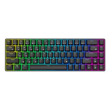 Royal Kludge RK855 68 Keys Mechanical Gaming Keyboard Dual Mode Wireless bluetooth 5.1 Type C Wired RGB Backlit RK68 Keyboard