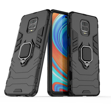 Bakeey Armor Shockproof Magnetic with 360 Rotation Finger Ring Holder Stand PC Protective Case for Xiaomi Redmi Note 9S / Redmi Note 9 Pro / Redmi Note 9 Pro Max Non-original