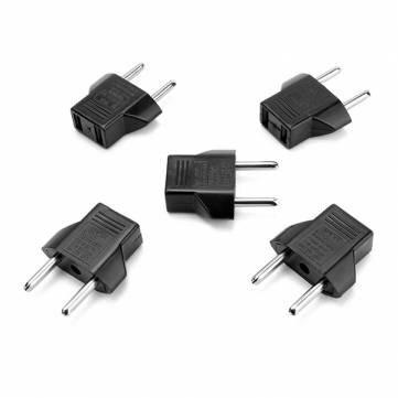 5stk Travel Plug-adapter US Till EU-länder AC-nätadapter för resor
