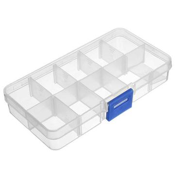 Adjustable Detachable Compartment Empty Storage Case Box 10 Cells For Nail Tip Gems Little Stuff