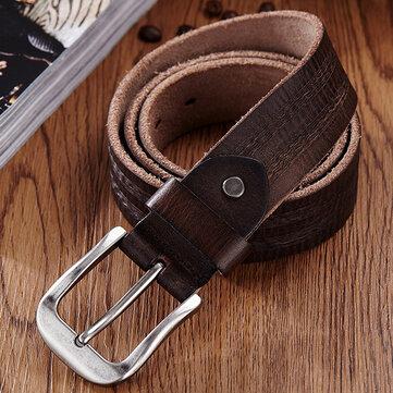New Genuine Cow Leather Men's Belt Waistband Waist Strap Girdle Smooth Buckle