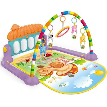 Buy Fitness Frame Foot Harp Baby Newborn Game Pad Children Shake Sound Educational Indoor Toys with 11 on Gipsybee.com