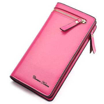 Stylish PU Leather Multi Slot Long Wallets Card Holder Purse For Women