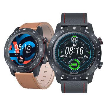 HRV Health Index Zeblaze NEO 2 Multi-watch Faces Full-touch Screen 24h Heart Rate Blood Pressure Monitor Italian Vacchetta Strap bluetooth V5.0 Smart Watch