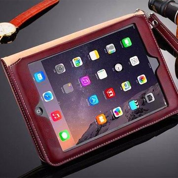 Ultra Thin Leather Shockproof Full Case Cover Med Card Slot Kickstand For iPad Air 2