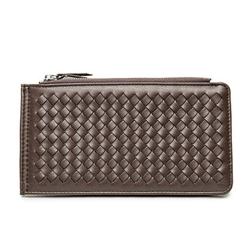 PU Leather Classic Vintage Long Wallet Leisure Business Multicard Card Holder Solid Purse