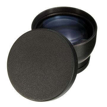 Ống kính Telephoto 52mm 2X cho Nikon D3100 D5200 D5100 D7100 D90 Máy ảnh DSLR D60 với Chủ đề Bộ lọc