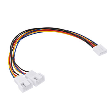20cm 4 Pin 1-to-2 Female to Male PWM CPU Cooling Fan Adapter Cable Extension Cable