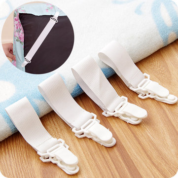 $2.88 For 4Pcs Bed Sheet Fixed Grippers Clip Holder Fasteners Set Non-slip Elastic Bed Sheet Buckle