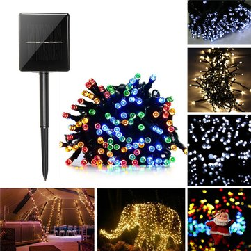22M Solar Powered 8 Modes 200LED Fairy String Light Christmas Party Wedding Garden Wedding Decor