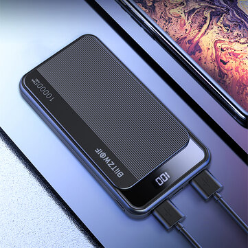 BlitzWolf® BW-P12 10000mAh 22.5W Digital Display QC3.0 PD3.0 SCP Dual Output Dual Input Smart Power Bank for iPhone 11 Pro XR for Samsung S20 Xiaomi Huawei for sale in Litecoin with Fast and Free Shipping on Gipsybee.com