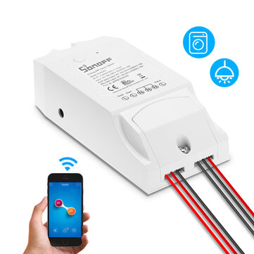 SONOFF® Dual Channel DIY WIFI Wireless APP Remote Control Switch Socket Module AC 90-250V For Smart Home