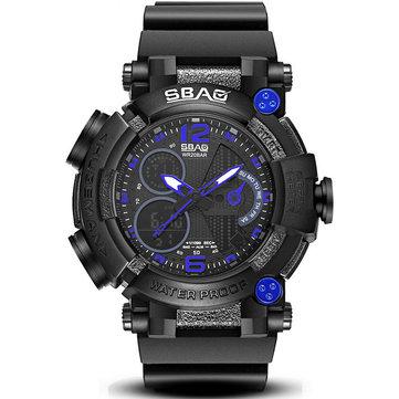 SBAO S-8019-2 Çift Ekran Dijital İzle Aydınlık Ekran Alarm Takvim Kronometre Spor Izle