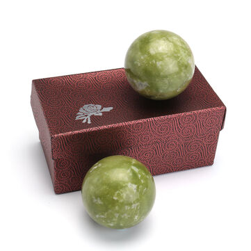 Chinese Health Exercise Stress Jade Stone BAODING Ball Relaxation Therapy 48mm