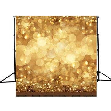 10x10ft Golden Spots Glitter Sparkl fotografía fondo telón de fondo de estudio