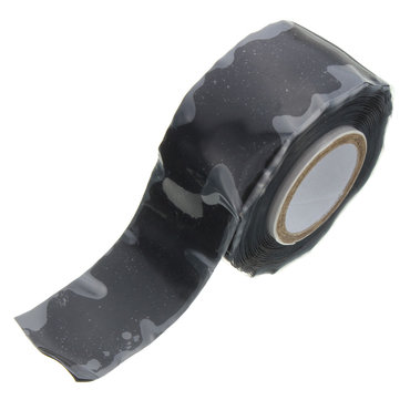 Suleve SRT01 25mm Wide Black Self Fusing Silicone Tape Emergency Rescue Repair Tape