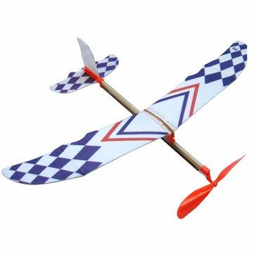 Elastic Rubber Band Powered DIY Foam Plane Kit Aircraft Model Educational Toy