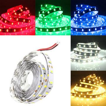 3m 15w 12v dc 180 SMD 5630 no-impermeable blanco / blanco caliente / rojo / verde / azul LED tira ligera flexible