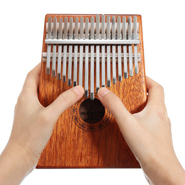 17 keys wood kalimba mahogany thumb piano finger percussion musical toys  with tuning hammer Sale - Banggood.com