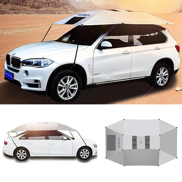 Outdoor Waterproof Awning Folded Car Sunshade Canopy Cover Anti-UV Sun Shelter Car Roof Tent
